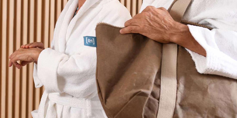 Accappatoio e asciugamani